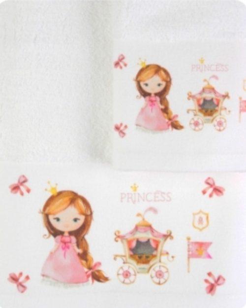 Πετσέτες Σετ 2 τεμάχια Πριγκίπισσα