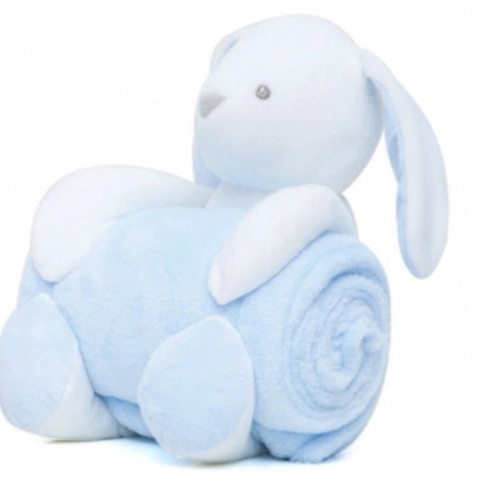 παιδική κουβέρτα fleece γαλάζια