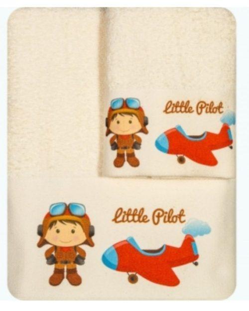 Πετσέτες Σετ 2 τεμαχίων Little Pilot