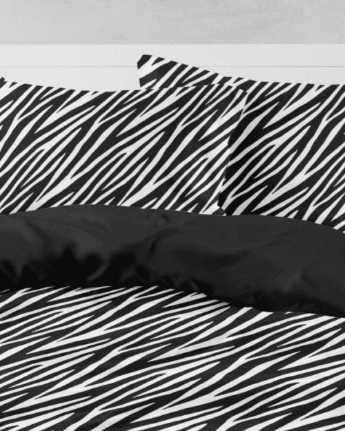 Σεντόνια Εμπριμέ Σετ Zebra Υπέρδιπλα